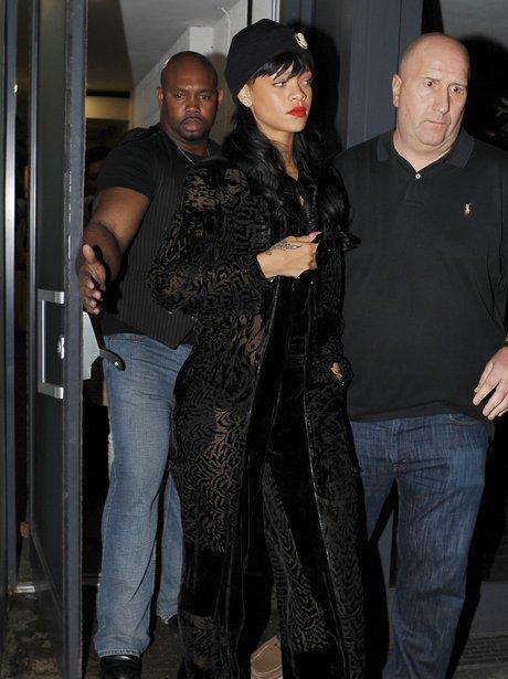 Rihanna leaving a London Night Club