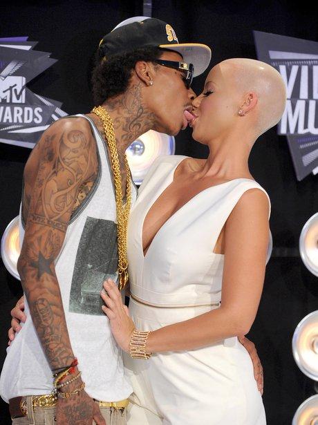 Whiz Khalifa and Amber Rose Kiss