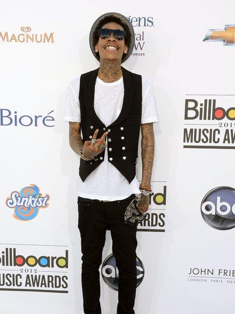 Wiz Khalifa arrives for the 2012 Billboard Music