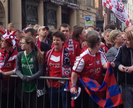 York city promotion bus parade