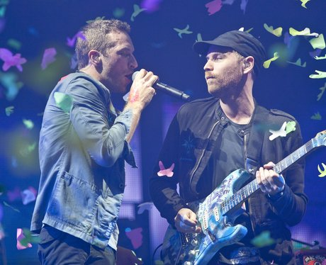 Coldplay perform at Glastonbury Festival 2011.