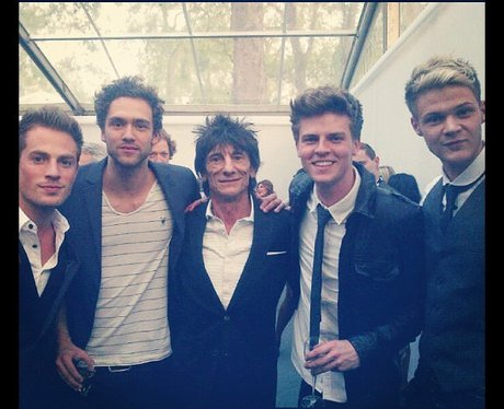 Lawson get to meet Ronnie Wood at the Glamour Awards 2012