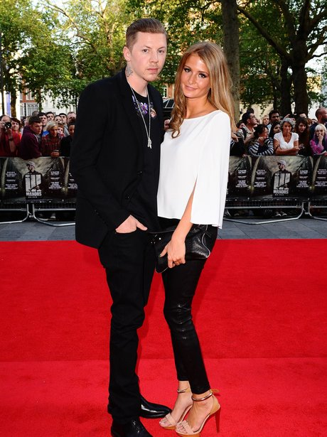 Professor Green and Millie Makintosh at the Ill Manors premiere