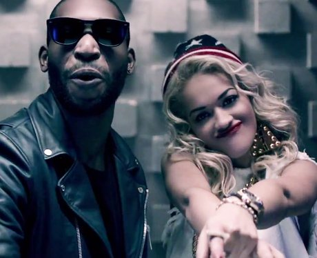 Rita Ora in the music video for 'R.I.P.' with Tinie Tempah