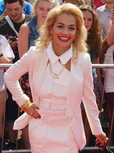 Rita Ora at The X Factor auditions in London