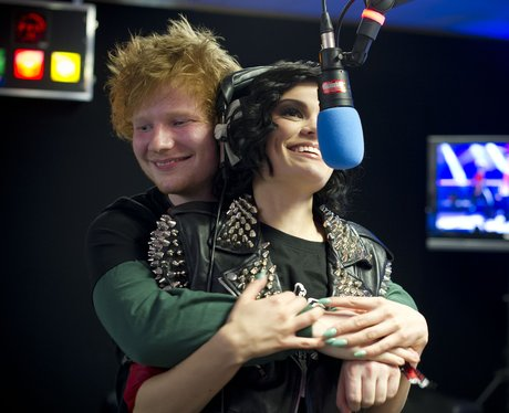 Ed Sheeran and Jessie J at the Capital Summertime Ball 2012.