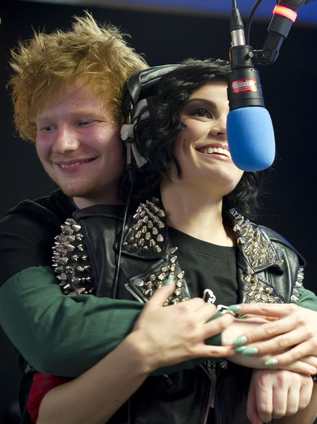 Ed Sheeran and Jessie J backstage at the Summertime Ball