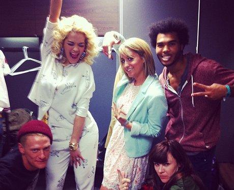 Em with Rita Ora's Dancers