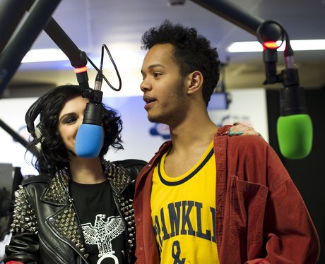 Jessie J and Rizzle Kicks backstage at the Summert