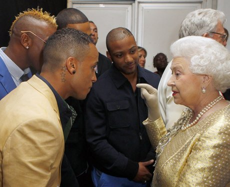 JLS and The Queen