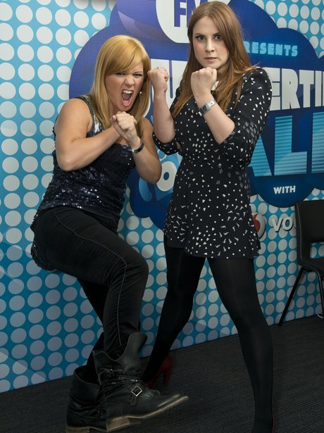 Kelly Clarkson and Kat Shoob backstage at the Summ