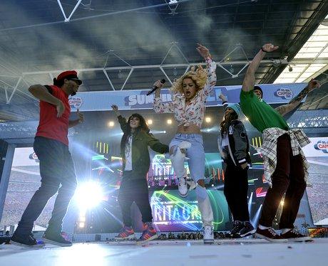 Rita Ora arrives at the Summertime Ball 2012