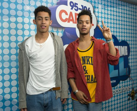 Rizzle Kicks backstage at the Summertime Ball 2012