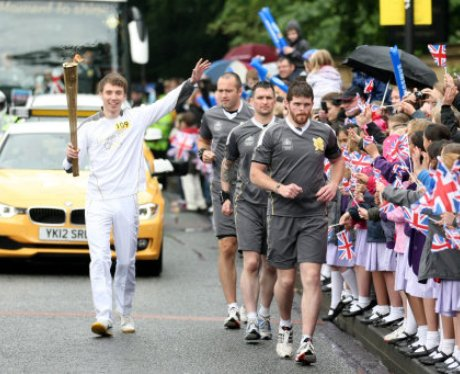 Olympic Torch Relay - Alnwick to Newcastle