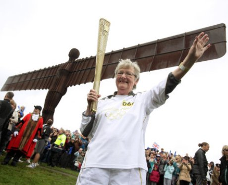 Olympic Torch Relay - Angel of the North