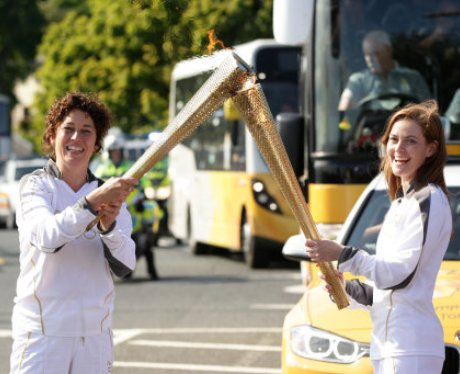 Check out what happened when the Olympic Torch cam