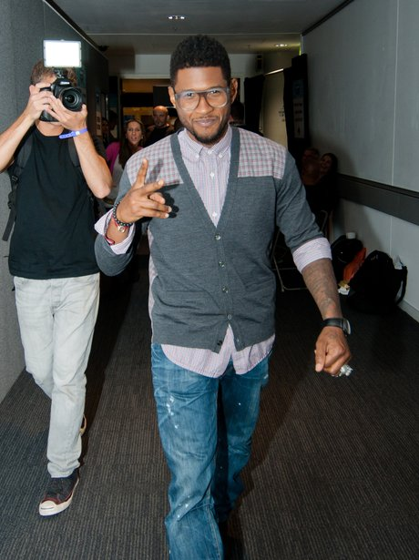 Usher backstage at the Summertime Ball 2012