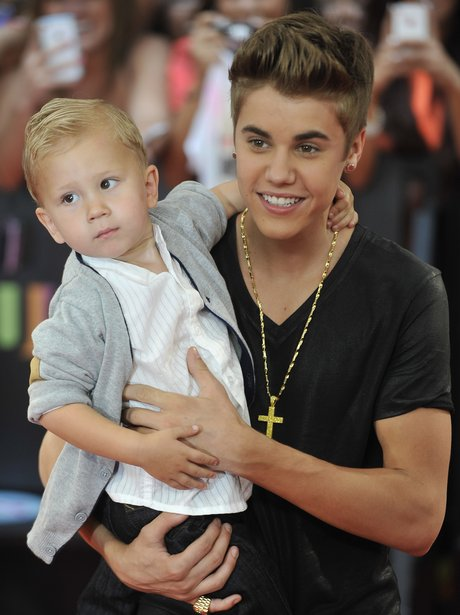 Justin Bieber and baby brother