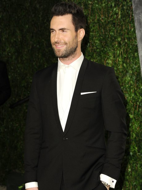Adam Levine at a party for Vanity Fair.