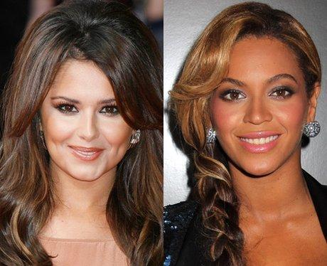 Cheryl Cole and Beyonce