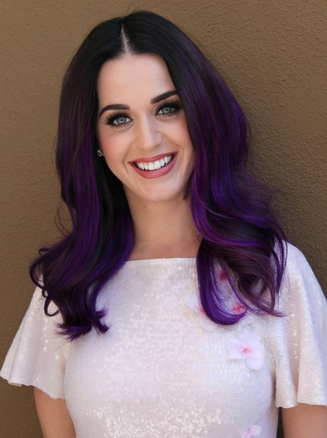 Katy Perry with purple hair