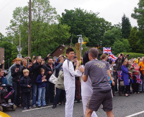 Olympic Torch hand over