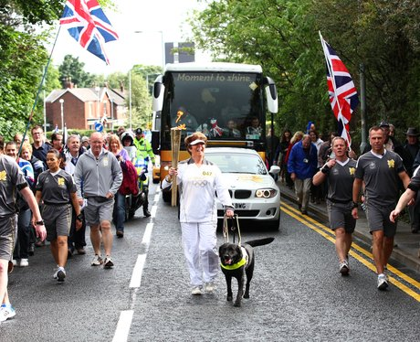 Olympic Torch on the way to Ashton-under-Lyne