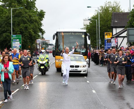 The Olympic torch in Stockport