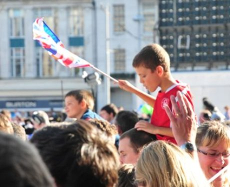The olympic Flame in Nottingham