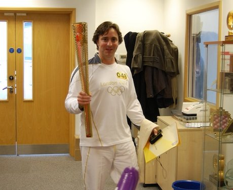 Capital FM's Pete Allen Carries The Olympic Torch