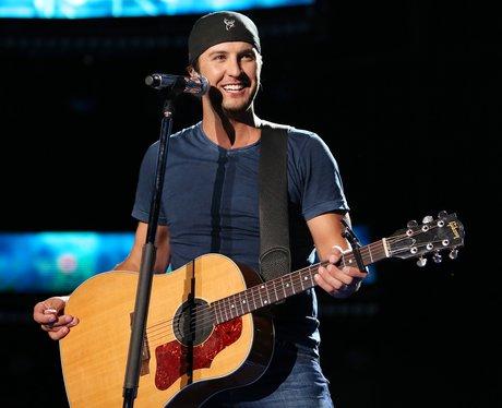 Luke Bryan performing on stage
