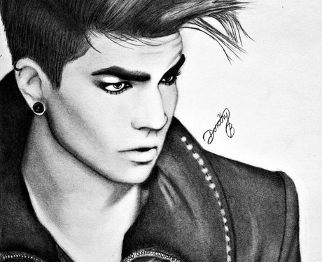 Adam Lambert fans picture drawing