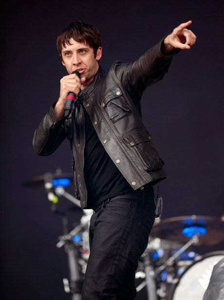 Example pointing on stage during live performance