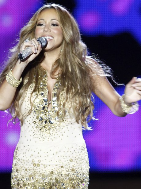Mariah Carey live on stage