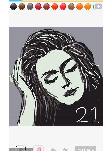 Adele on Draw Something