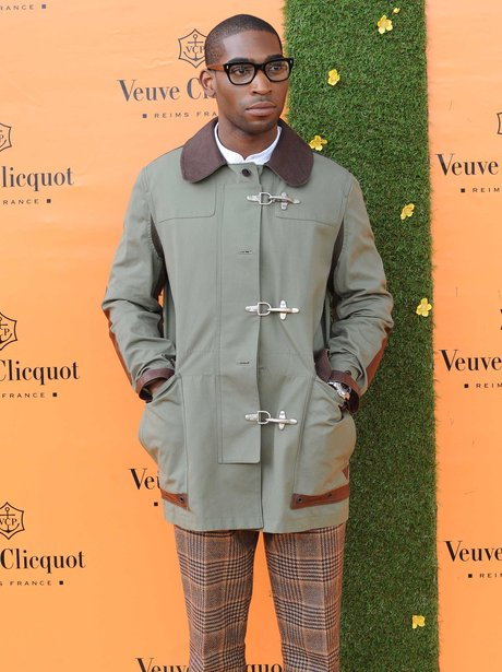 Tinie Tempah in a green jacket