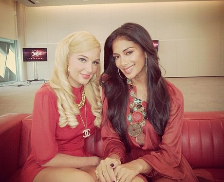 Tulisa and nicole at x factor