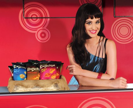 Katy Perry promotes Popchips