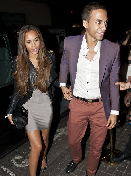 Rochelle Wiseman and Marvin Humes in London