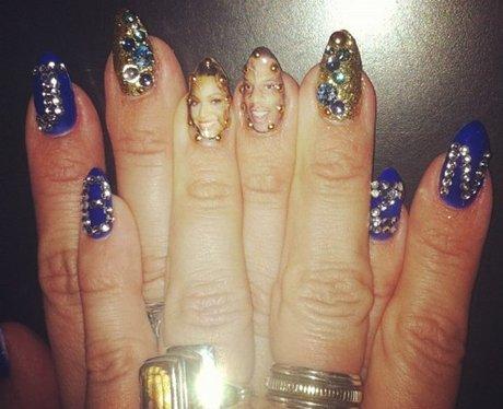 guess the pop star nail art