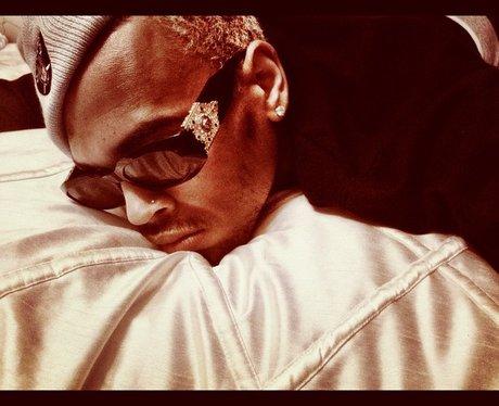 Chris Brown sleeping