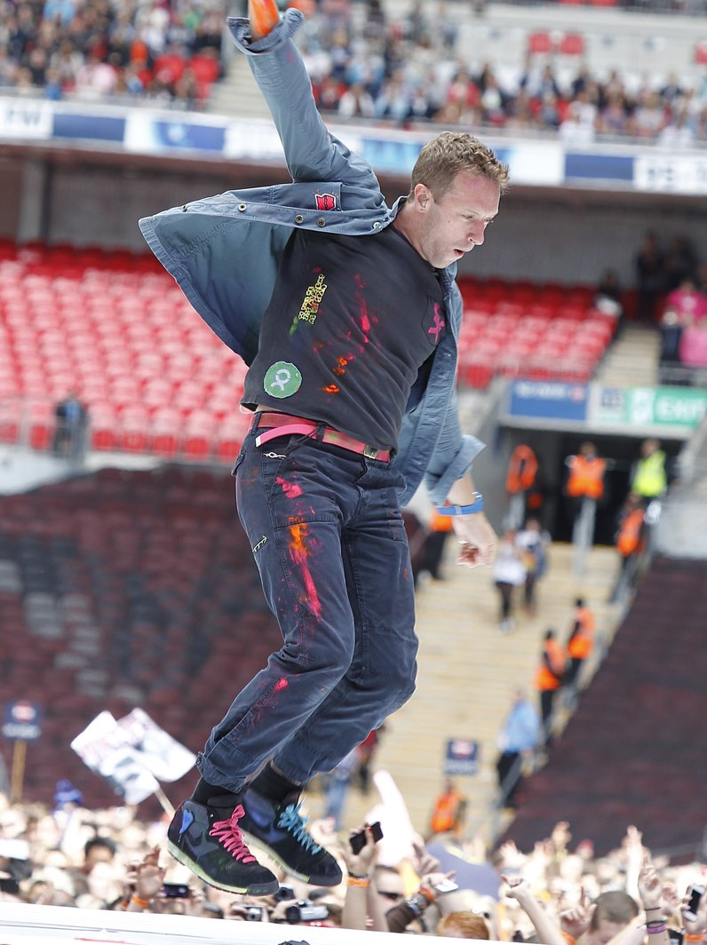 Chris Martin live on stage