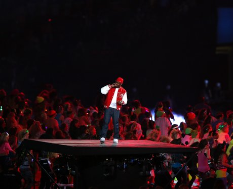 Dizzee Rascal performs at Olympic opening ceremony.