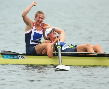 Helen Glover and Heather Stanning win Team GB's first Gold in the Women's Coxless Pairs