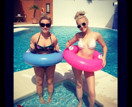 Perrie Edwards on holiday.