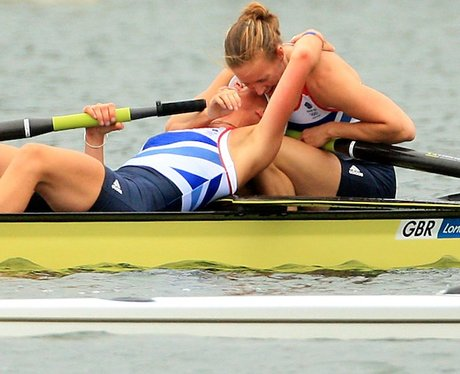 Anna Watkins And Katherine Grainger Crowned Olympic Champions In The Women's Double Sculls event.