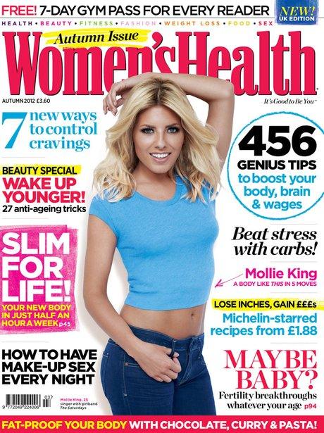 Mollie King in Women's Health