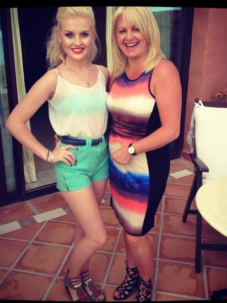 Perrie Edwards of Little Mix with her mum