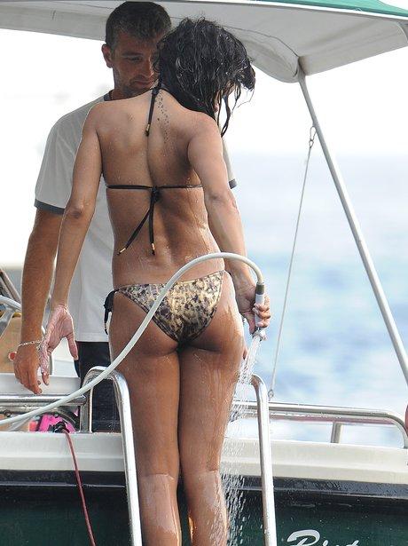 Rihanna on holiday in Italy