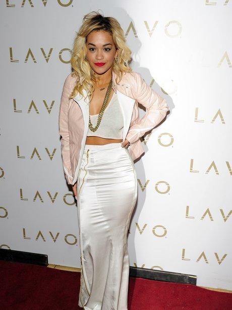 Rita Ora hosts Stereo Saturdays in Los Angeles.